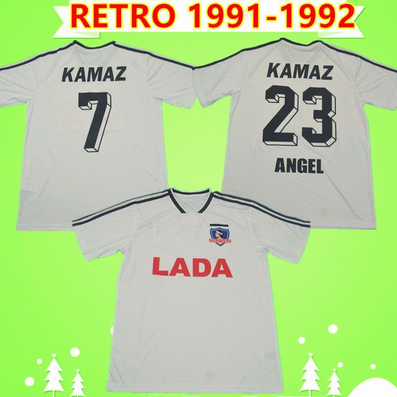 Colo Colo retrò 1991 1992 pullover di calcio Argentina CSD casa bianca Camiseta de Futbol maglie da calcio d'epoca classiche Camisa de futebol 91 92