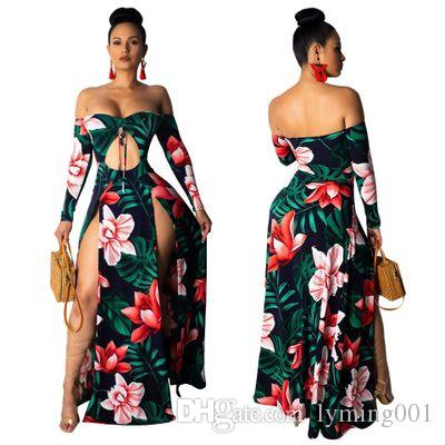 Hot Summer Ladies Wave Long Dress Women  Boho Evening Party Long  Dress New