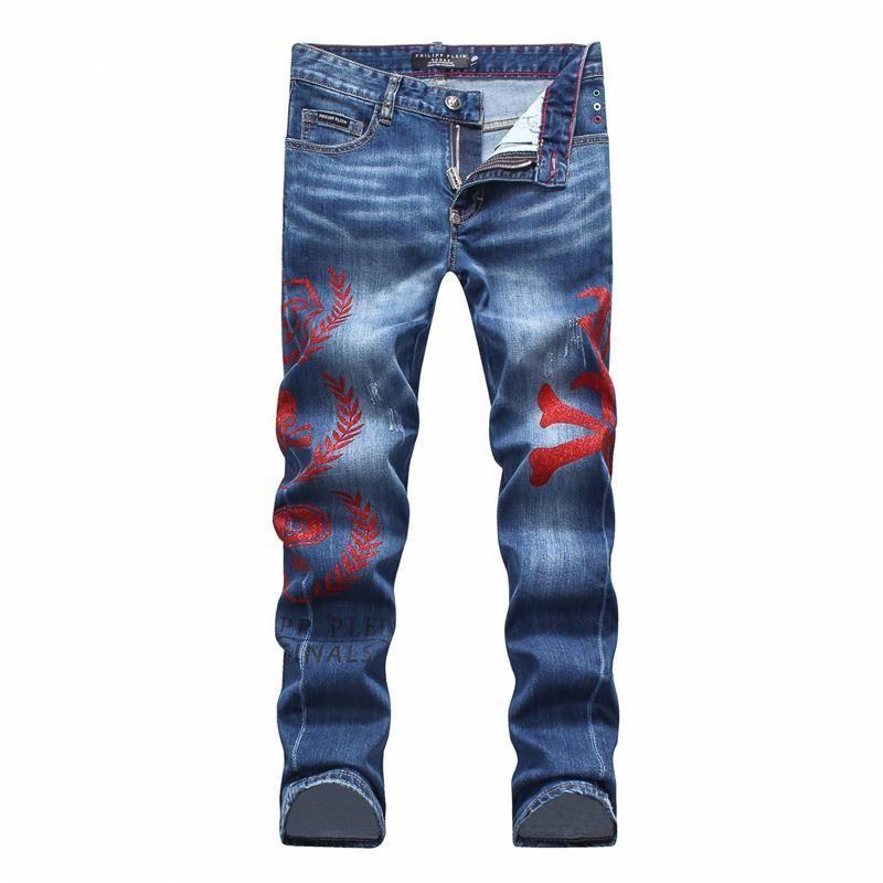 Mens Luxus-Designer 2020 neue men'sdenim Hosen Explosion Modelle spezielle Druck näht Hosen Abschnitt schwarze Jeans