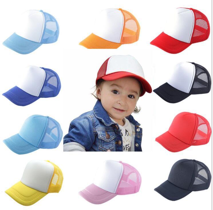키즈 야구 모자 성인 메쉬 캡 비어있는 트럭 모자 Snapback 모자 소녀 소년 유아 모자 싸구려 도매