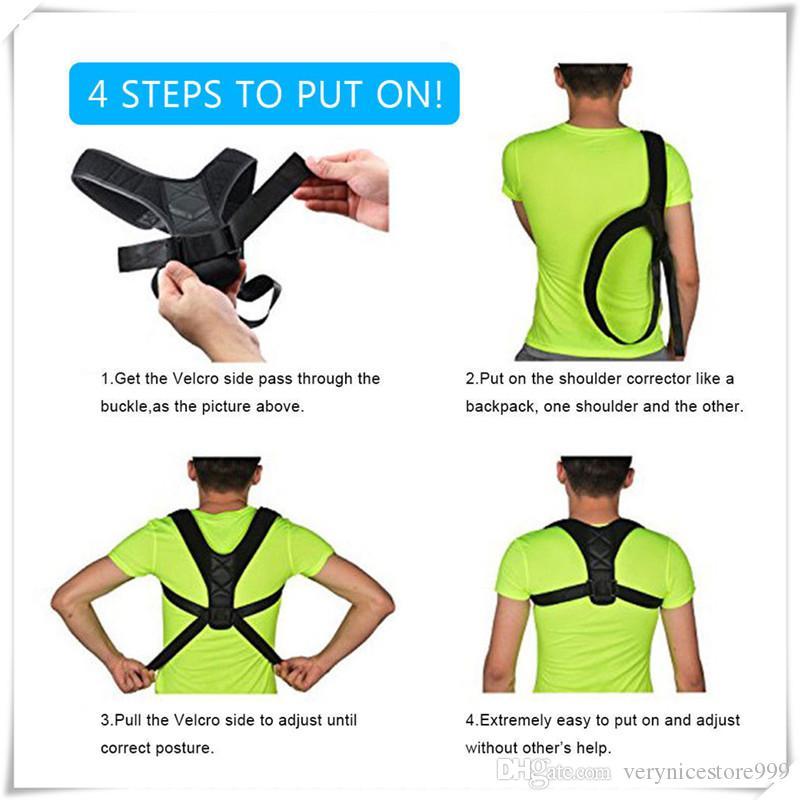 Correction Belt Back Posture Corrector Clavicle Spine Back Shoulder Lumbar Outdoors Brace Support Belt Posture Correction