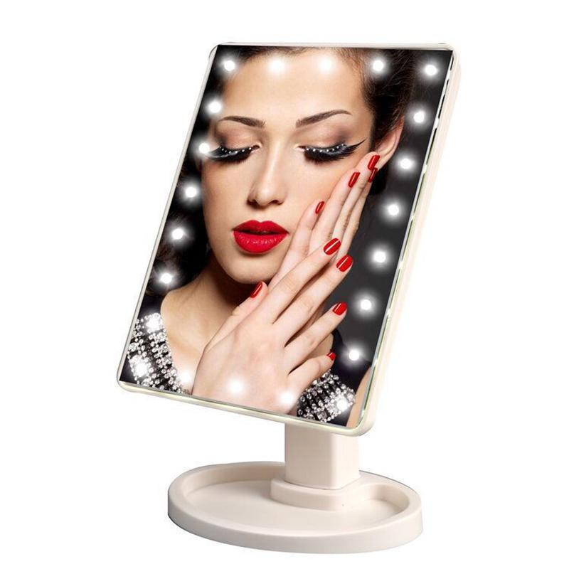 16W LED Adjustable USB Cable Or Battery Use Light For Touch Screen Makeup Mirror with Touch Dimmer Desktop Countertop Bright Y200114