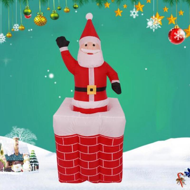 1.6M LED Airblown inflable de Santa animada se levanta de la chimenea arriba y hacia abajo al aire libre diseño de la decoración de Navidad Figura Kids Classic Para