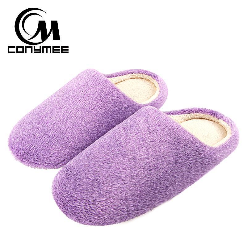 Pattini degli appartamenti delle donne Pantofole Terlik morbido velluto Donna Inverno scarpe Zapatos Mujer grande formato caldo Furry Slipper Rosa