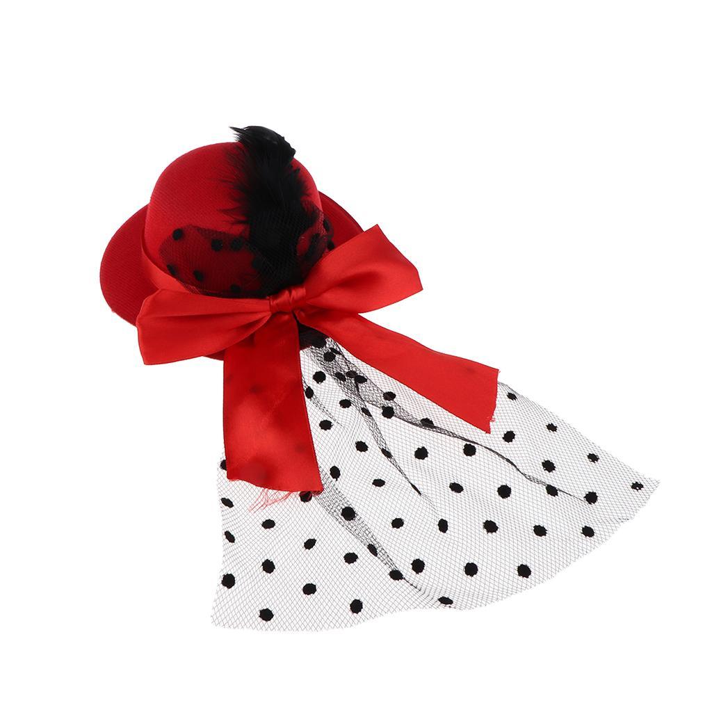 Ronde vintage fait main Doll Chapeau melon avec bowknot 1/3 BJD fille poupée Accessoires Jouets pour enfants