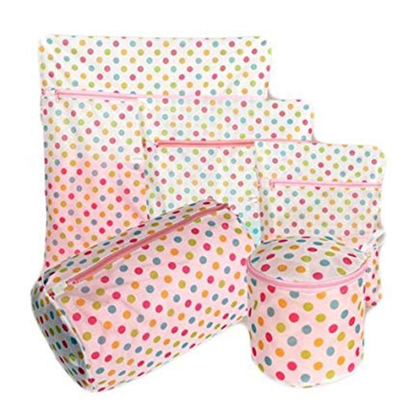Taschen für Delicates Honeycomb Wash Taschen Dickere mit Refined Mesh-Set von 5 für Kleid, Bluse, Strumpfwaren, Stocking, Und T200224