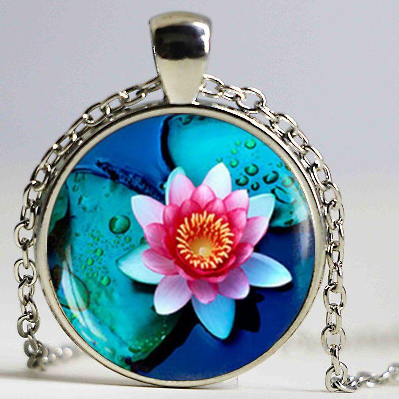 Новая мода стекла кабошон Подвесной ожерелье Daisy Красная роза ожерелье ювелирных изделий на День Женщины Валентина