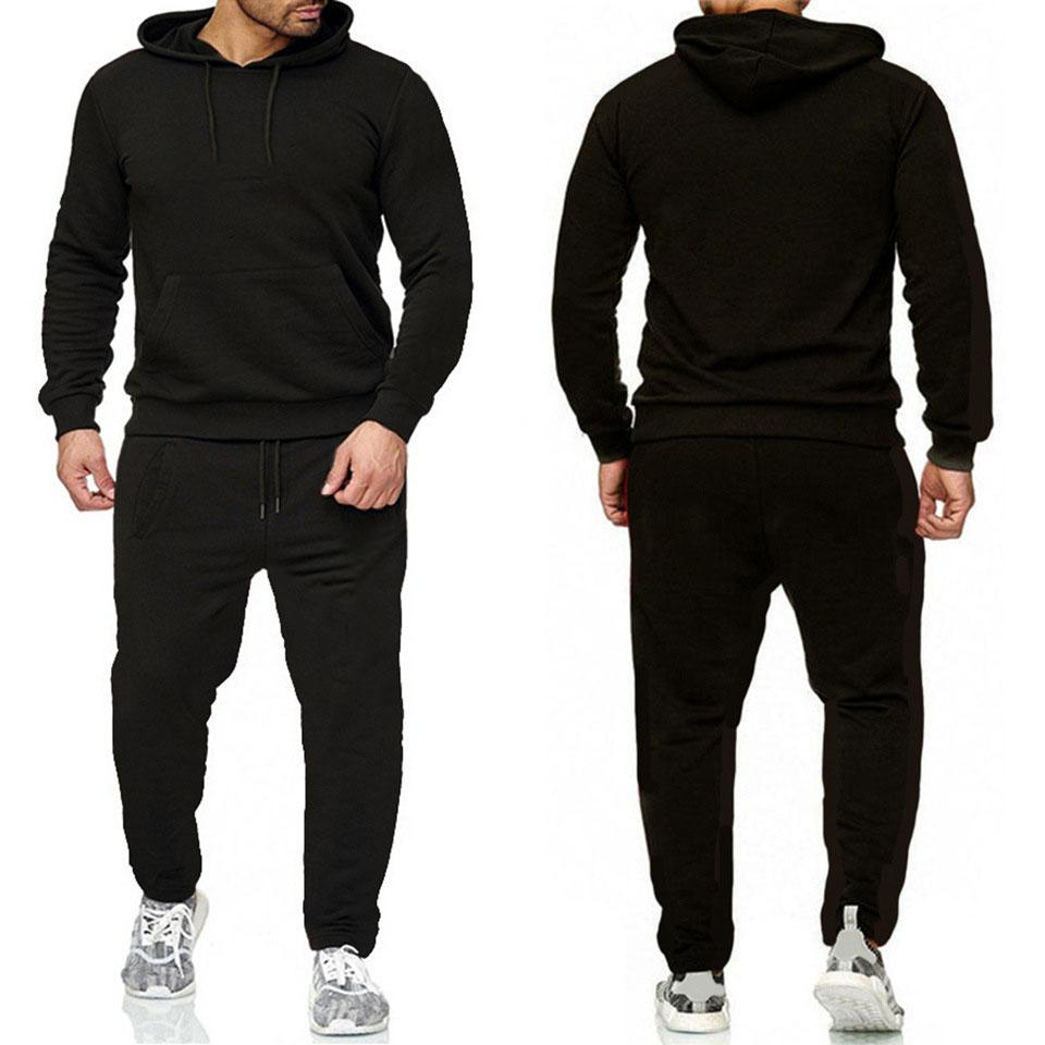 Mens Survêtements Lettre polaire de mode d'impression Hommes Jogger Fit Costumes Pollover Sweats à capuche capuche casual pantalon long Tenues ZRTZ2JT