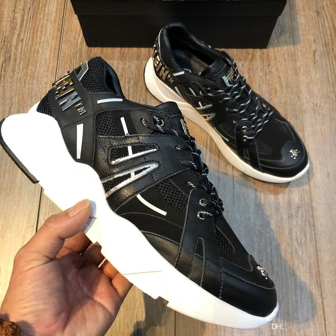 2020 Высокое качество Новый стиль роскоши модельер партии вскользь ботинки альпинистские спорта баскетбол обувь воздуха платформы мужской обуви