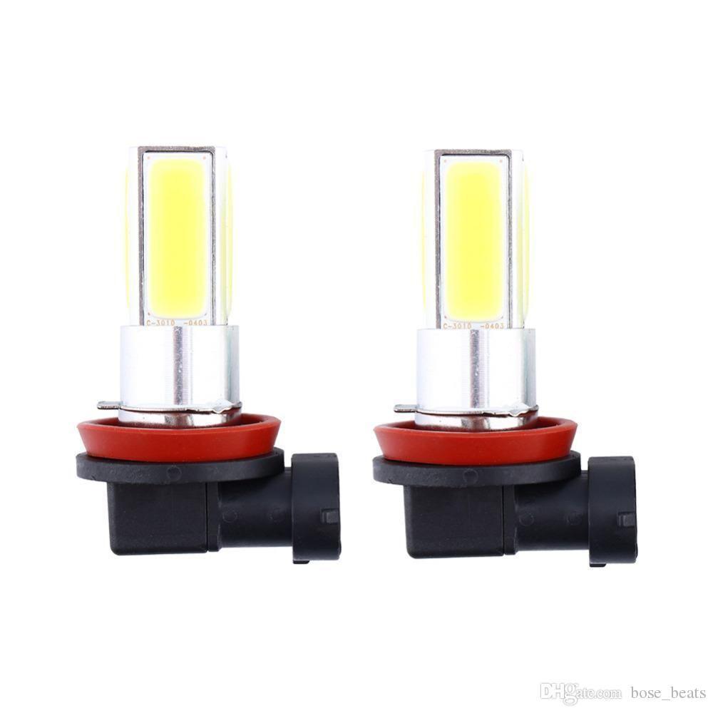 2x H8 H11 20 Вт COB автомобиля туман дальнего света лампы белый 6000 К 2000LM высокая мощность дневного света номерного знака автомобильные аксессуары