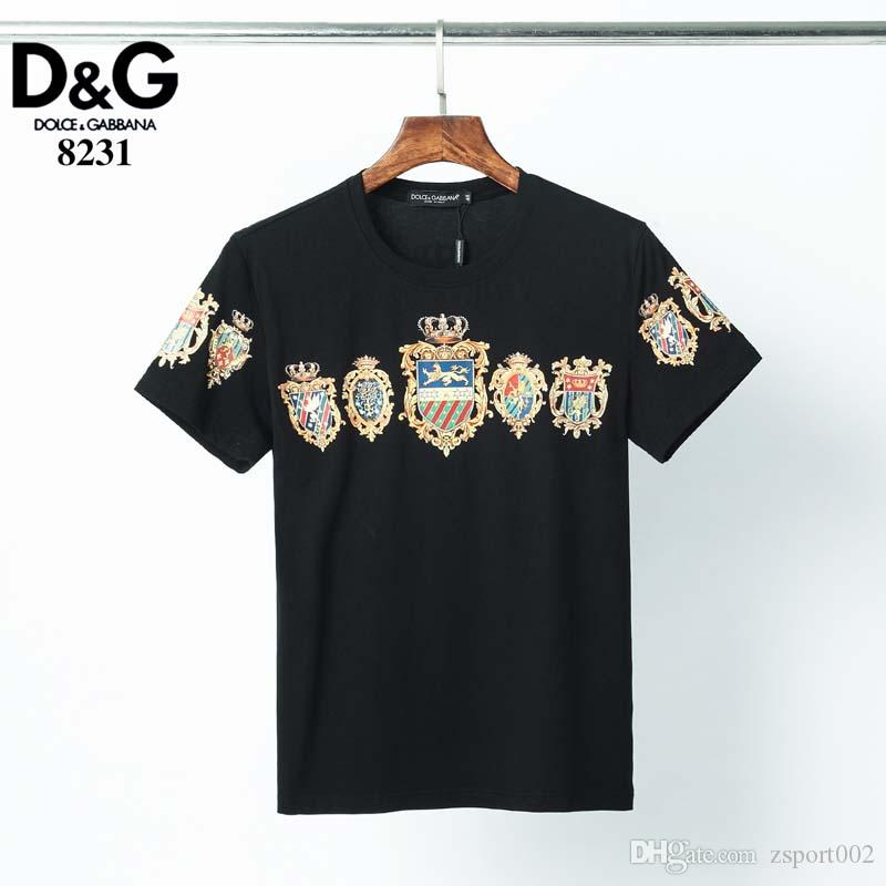 2020 Casual T-shirt Men's Designer Black White Orange Size S-XXXL Cotton Blend Round Neck Short Sleeve Cartoon Print a6