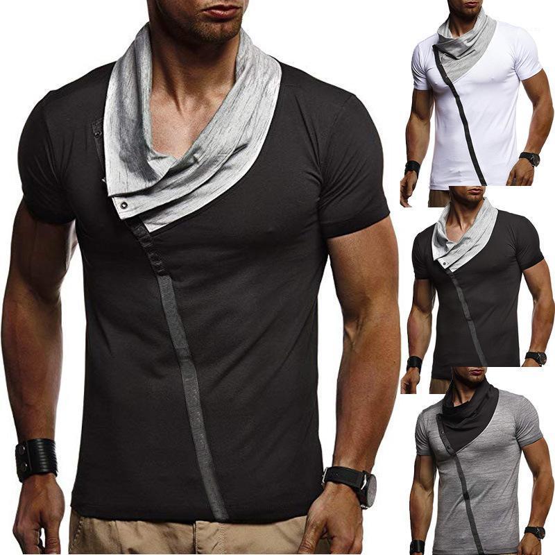Повседневные новые футболки лето с коротким рукавом прохладный дизайнер с коротким рукавом тройники топы мужские