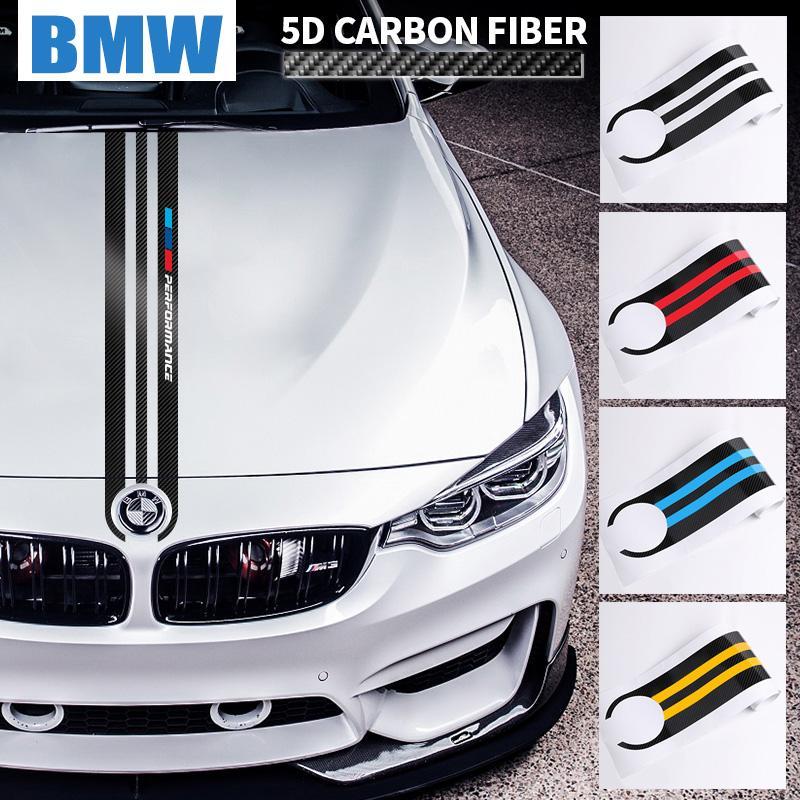 for BMW E90 E46 E39 E60 F30 F10 F15 F16 X5 X6 Car Styling M Performance Sport Power Stickers Carbon Fiber Car Hood Sticker Decal