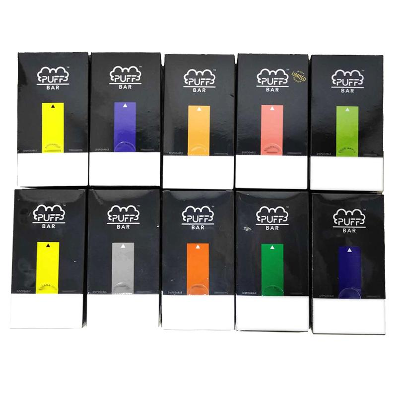 Lo nuevo paquete soplo Bar desechable Vape Pen Capacidad 1,3 ml de Vape cartuchos de batería 280mAh Puffbar palillo de dispositivos desechables Kit de paquete de DHL