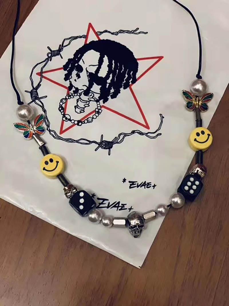 Appena possibile Collana di perle di taro roccioso Una collana di perle da uomo e donna hip-hop approvate da ROCKY Street Dance da $ AP