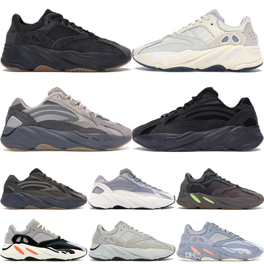 Новый 700 V2 Wave Runner Инерция Тефра Solid Gray Полезность черный Vanta подножка обувь Мужчины стилиста обувь Женщина Статических Кроссовки Eur 36-46