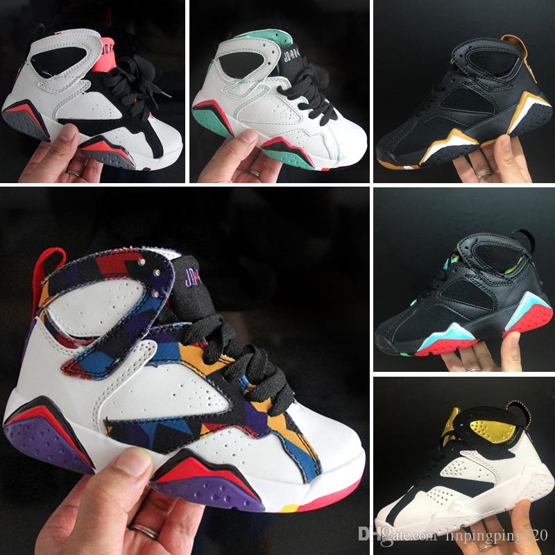 tienda Privilegio como resultado  Compre Nike Air Jordan 7 Venta Caliente Niños Clásico 7 Zapatillas ...