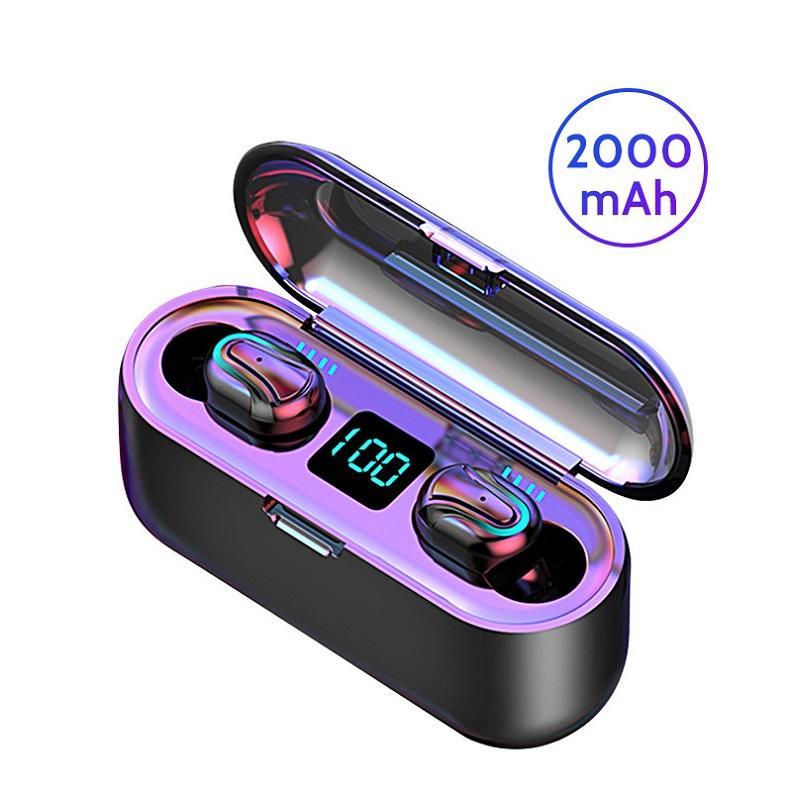 HBQ Q32-1 Q32 블루투스 이어폰 5.0 TWS 헤드폰 방수 HD 무선 이어폰 소음 취소 게이밍 헤드셋과 LED 전원 표시