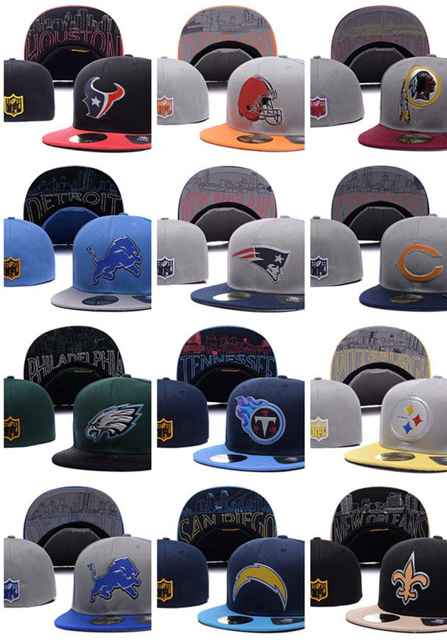 Wholesale New American football Sports Team Fitted Hats Quality Snapbacks Caps and Hats For Men or Women