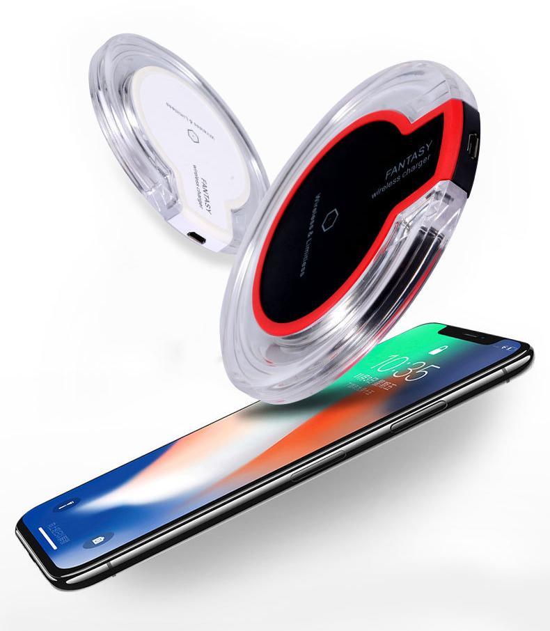 Qi 무선 충전기 K9 환상 Iphone 를 위한 보편적인 수정같은 충전기 8 플러스 XR X XS11Pro MAX 삼성 S10S20 플러스