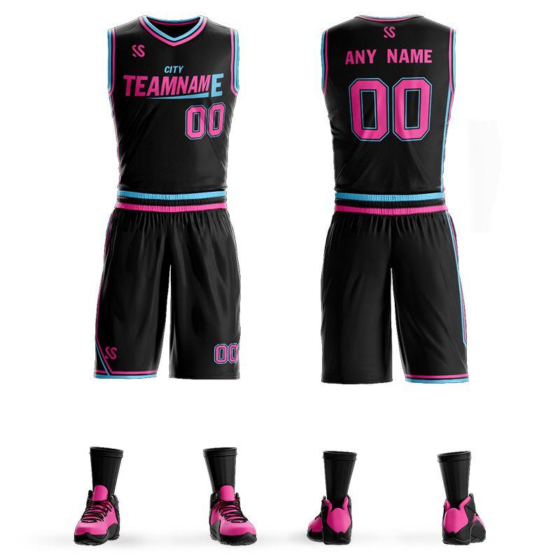Personalizzato Mens Basketball Jersey Imposta Uniformi fai da te Kit Ragazzi Abbigliamento sportivo Dwyane Wade Whiteside respirabile Su misura della squadra dell'istituto universitario