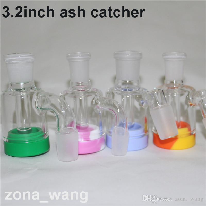 Colector de cenizas de vidrio bong 4590 grados Ashcatcher tuberías de agua bongs 14mm 18mm vidrio dab plataforma petrolera accesorio para fumar Colectores de cenizas