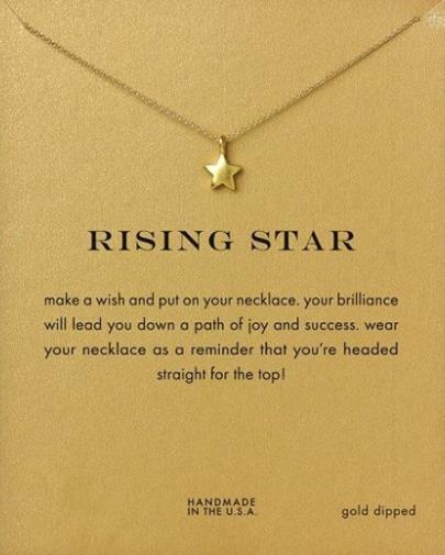 or Collier personnalité de mode or carte ruban alliage créatif bonne chance collier de la clavicule avec cinq étoiles