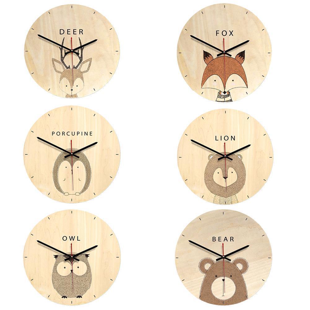 Ретро Европейский Стиль Имитация Деревянные Печатные настенные часы Европейский стиль Гостиная Домашнее украшение