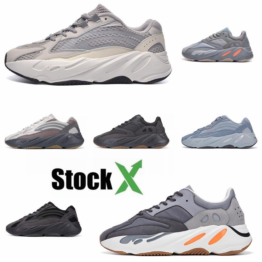 New Kanye West Chaussures de course Hommes Femmes Chaussures Designer Azaël Blanc ALVAH 700 V3 Phosphorescent Chaussures de sport noir Mode Formateurs Sport # QA938