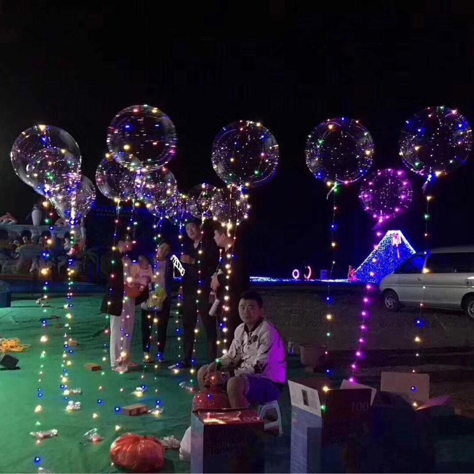 Luminosa Led Light trasparenti 3 Metri bobo Balloons lampeggiante festa di nozze Decorazioni di festa rifornimenti Colore Balloon luminoso LED 2018