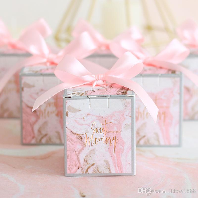 Düğün Favor Hediye Kutuları Ambalaj Şeker Çerez Kutuları Doğum Günü Partisi Favor Çanta Bebek Duş Olay Parti Festivali için Şeker Kutuları Malzemeleri