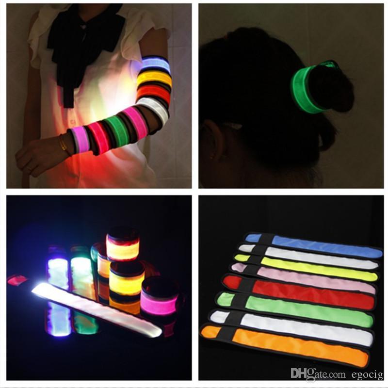 Led Wristband Sport Slap Wrist Strap Bands Light Flash Bracelet Glowng Armband Strap For Party Concert Armband In XMAS Halloween