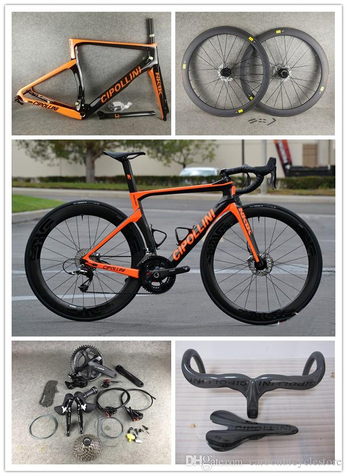 Disque noire orange Cipollini NK1K Disque Carbon Road complet Vélo R7020 R8020 GROUPSE CIPOLLINI CARBONE ROADDLE SELDLE