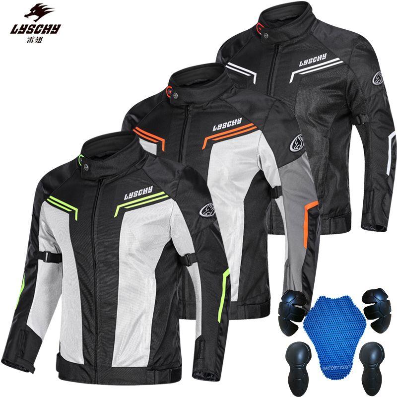 Pantalones de la chaqueta de la motocicleta LYSCHY trajes de verano de malla Riding ropa ligera cómodo chaleco reflectante motocicleta Knight Maquinaria en KTM
