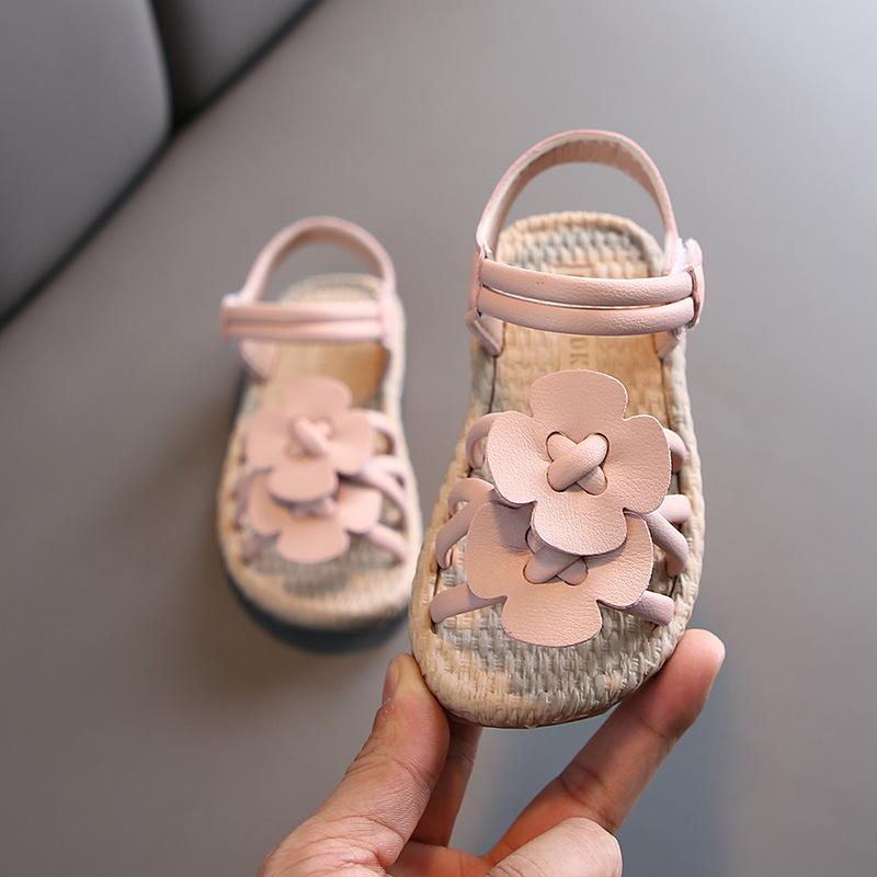 2020 New Fashion Flower Baby Girls Summer Sandals Baby Little Girls Princess Shoes For Toddler Kids Beach Shoes 1 2 3 4 5 6 Year