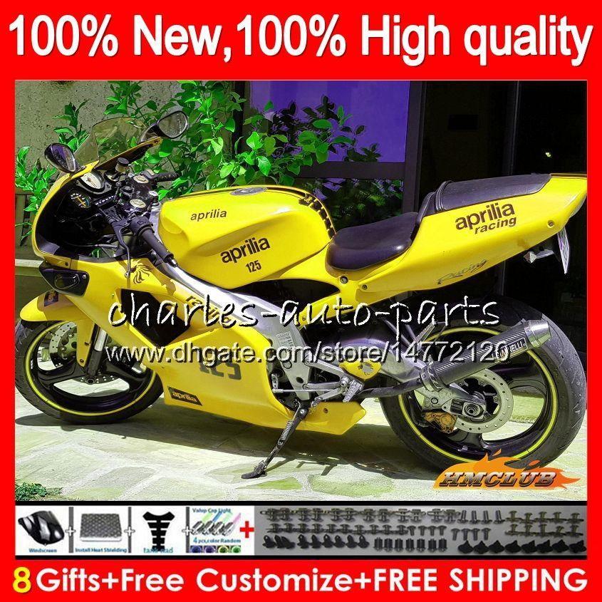 Cuerpo para Aprilia RS125 RS125 RSV125 99 00 01 2003 2004 2005 70NO.132 RS125R RS 125 RSV125R de color amarillo claro 1999 2000 2001 02 03 04 05 carenado