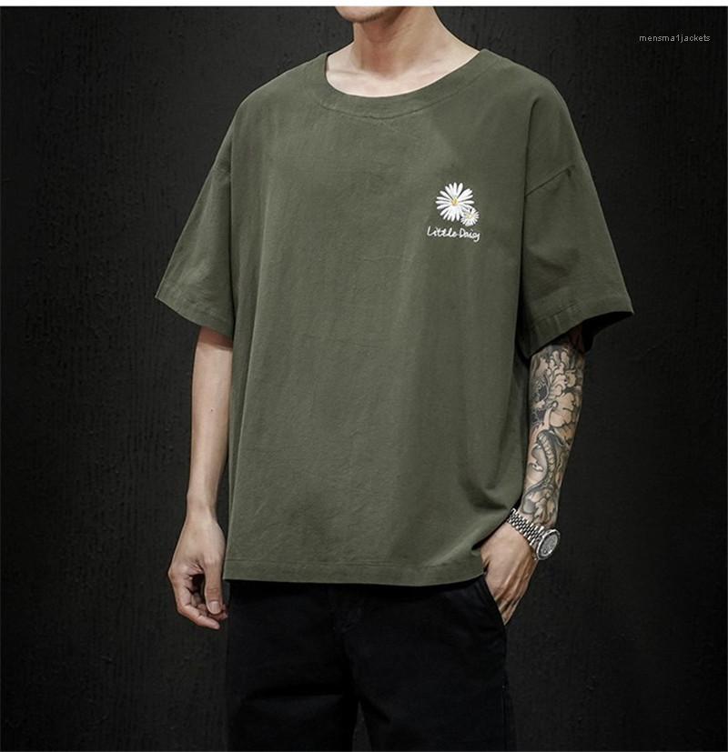 Мужчины Tshirts Crew Neck Печать Мода Мужской одежда Лето Вышитой короткий рукав футболка дряблой Плюс Размер футболки