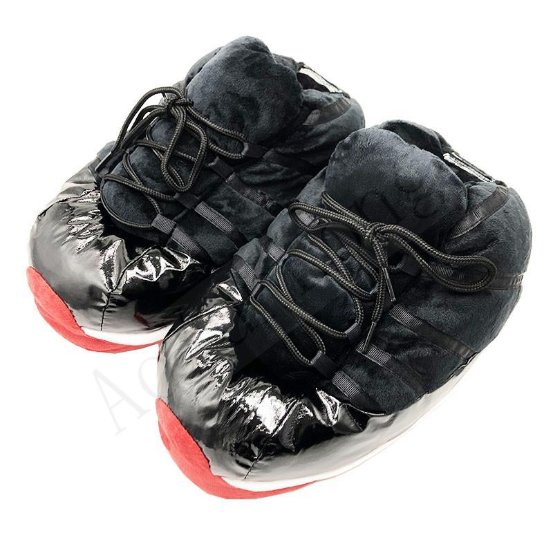 Zapatillas de invierno mujeres / hombres zapatos de pan lindo mujeres calientes zapatillas para mujer zapatos de casa grande tamaño 36-44 casa snug zapatillas de deporte mujer