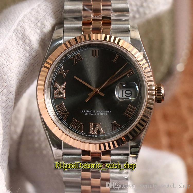 EW V2 versão de atualização DateJust 36 milímetros 116231-0087 116234 Cal.3235 automática 126135 Mens Watch Cinza Dial Sapphire 316L aço capa Esporte Relógios