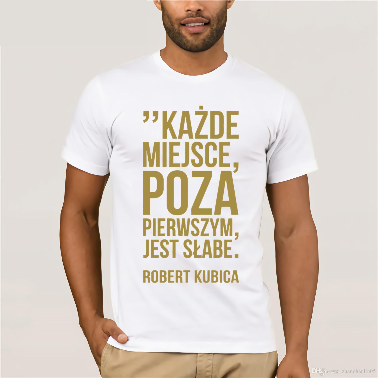 Robert Kubica Kazde miejsce poza pierwszym jest slabe  T-shirt Long Sleeve Black