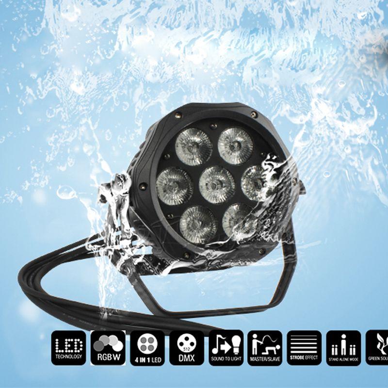 SHEHDS للماء LED الاسمية RGBW 7x18W + الأشعة فوق البنفسجية عالية الجودة في الهواء الطلق IP65 للماء DMX تأثير أضواء المسرح المهنية المرحلة DJ حديقة حفلة