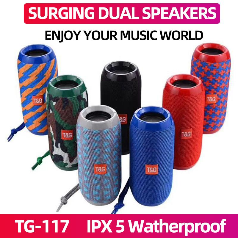TG117 Portable Bluetooth Speaker boombox Soundbar Subwoofer Outdoor Sports caixa de som Loudspeaker TF Card FM Radio AUX Input