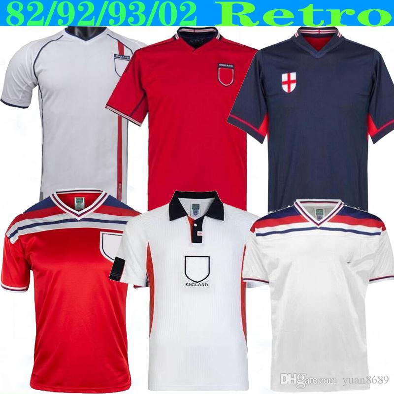 Discount Retro World Cup 2002 ENGLAND SOCCER JERSEY Home Away Football Shirt ROONEY Lampard BECKHAM Owen 1982 KEEGAN McDERMOTT Shearer From China - DHgate.Com