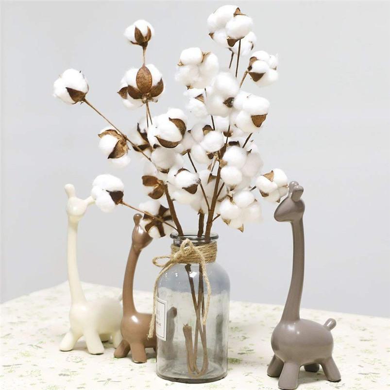 당연히면 말린 21 인치 인공 꽃 농가의 Sty 홈 인테리어 꽃다발 꽃병 휴일 파티 문학 간단한 H01 줄기