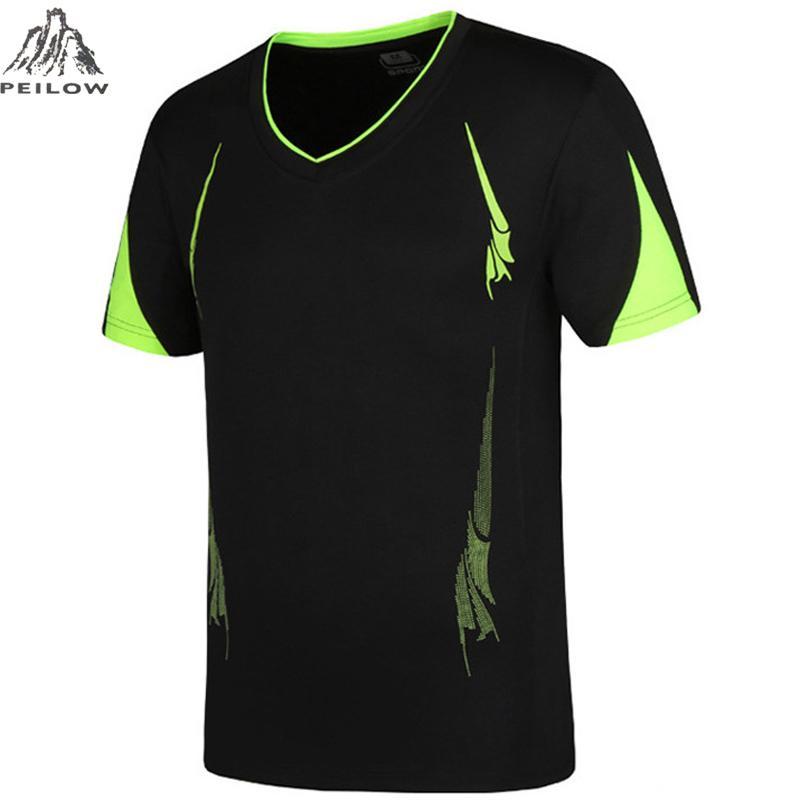 PEILOW grande taille M ~ 6XL, 7XL, 8XL, 9XL Quick Dry Slim Fit topsTees Hommes T-Shirts imprimés Compression shirt Tops manches courtes T-shirt
