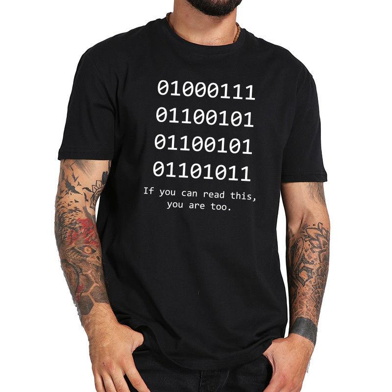 b819be425 Geek T Shirt Men Humor Binary Bit Cotton Casual Programming Java Funny T-shirt  Style Round Style tshirt Tees Custom Jersey t shirt