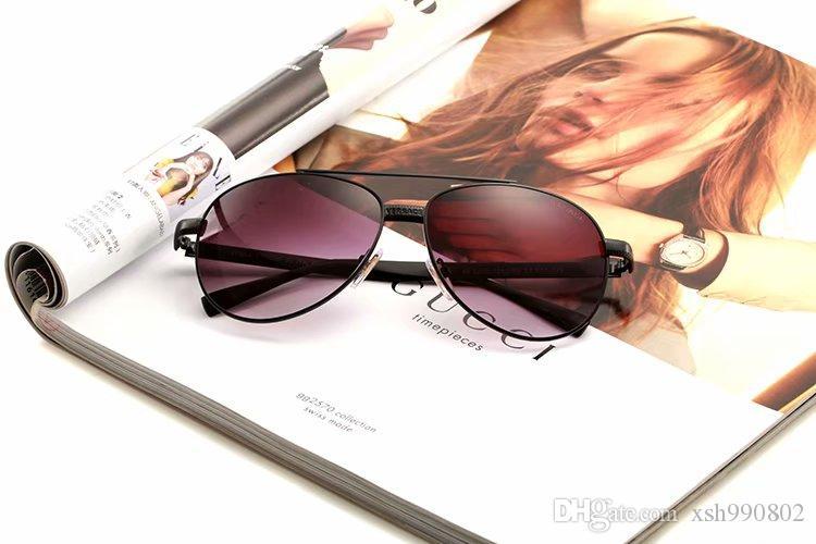 Luxury7designer Sunglasses For Men Fashion Designer Sun Glass Oval Frame Coating Mirror UV400 Lens Carbon Fiber Legs Summer Style Eyewear