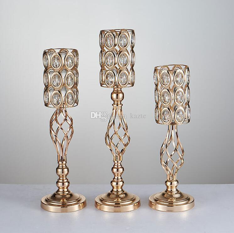 Wedding props gold plated iron flower vase ware stage background creative home European furnishings wedding decorations