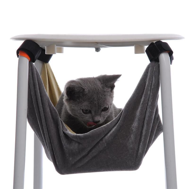 * 3748 37 * 48cm S / M Yatak Kedi Pet Kitten Kedi Hamak Çıkarılabilir Sandalye Kitty Sıçan Küçük Evcil Swing Yumuşak Yatak Kafesleri Asma