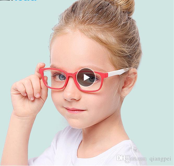 Neue Baby-Anti-Blau-Licht-Silikon-Brille Kinder Weicher Rahmen Goggle Plain Gläser Kinder Eye Ruhm eywear Mode